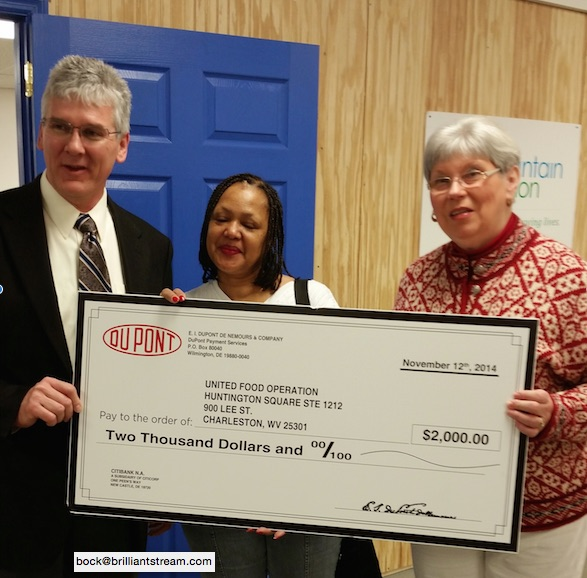 Dupont donation to United Food Operation, Inc.