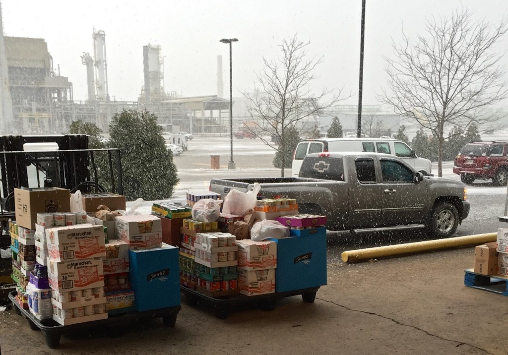 snow flurry at United Food Operation