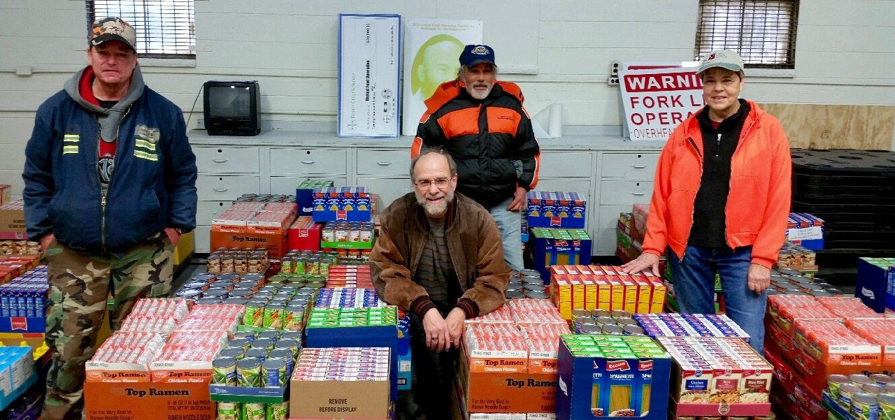 Volunteers from St. Albans Food Pantry