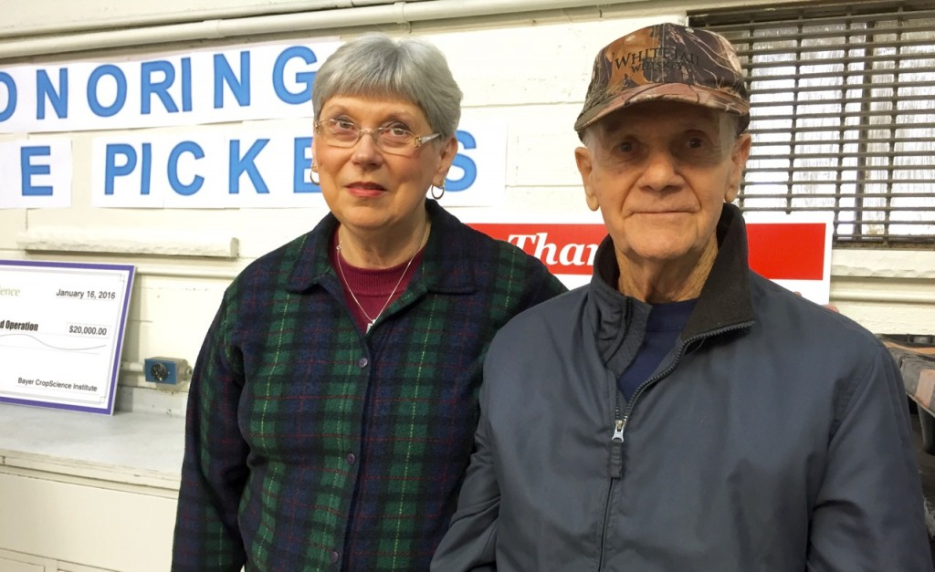 This year's food drive is dedicated to Noble Pickens. Following his retirement from industry, this Dunbar resident worked tirelessly for UFO, helping run things at the warehouse.